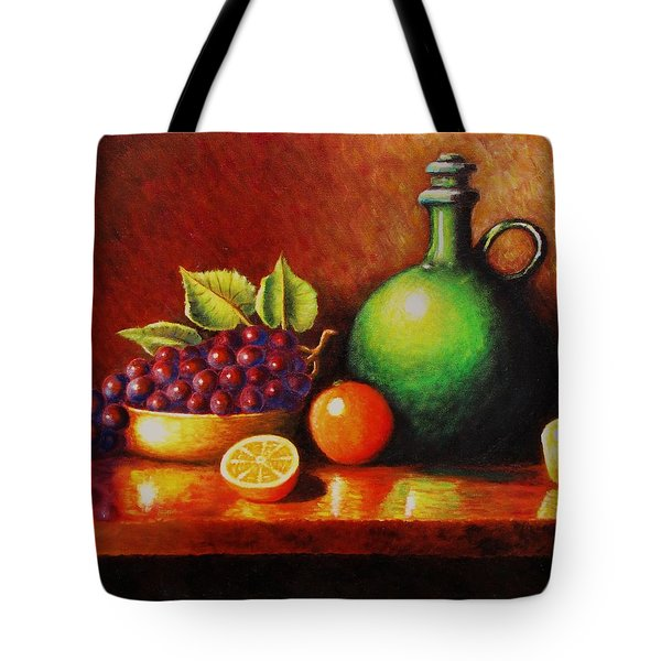 Fruit And Jug Tote Bag by Gene Gregory
