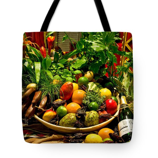 Tote Bag featuring the photograph Fruit And Wine by Mae Wertz