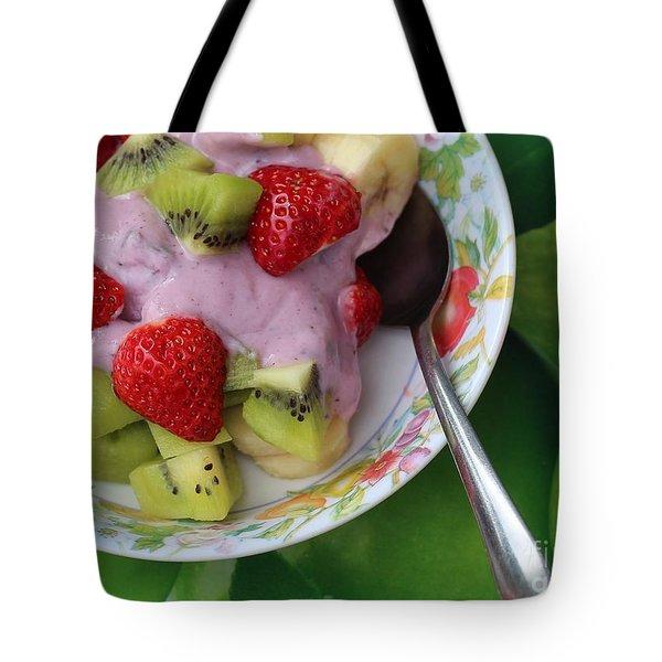 Fruit And Yogurt - Dessert - Food  Tote Bag by Barbara Griffin