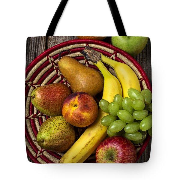 Fruit Basket Tote Bag by Garry Gay