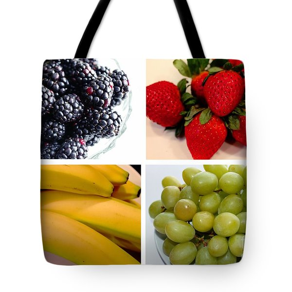 Fruit Collage Tote Bag by Barbara Griffin