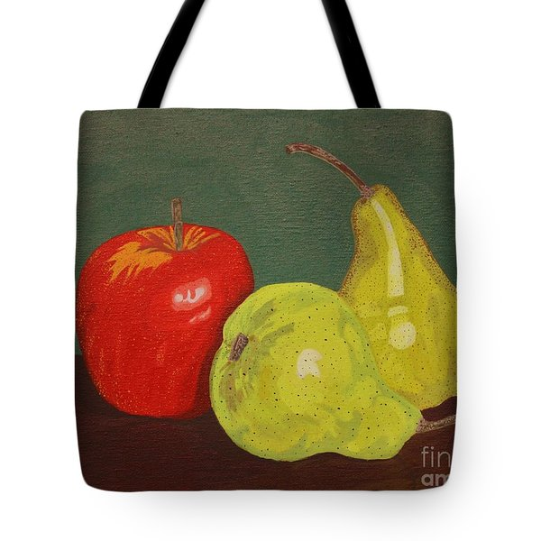 Fruit For Teacher Tote Bag by Vicki Maheu