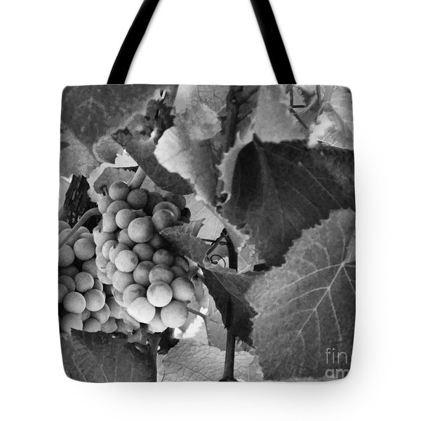 Fruit -grapes In Black And White - Luther Fine Art Tote Bag