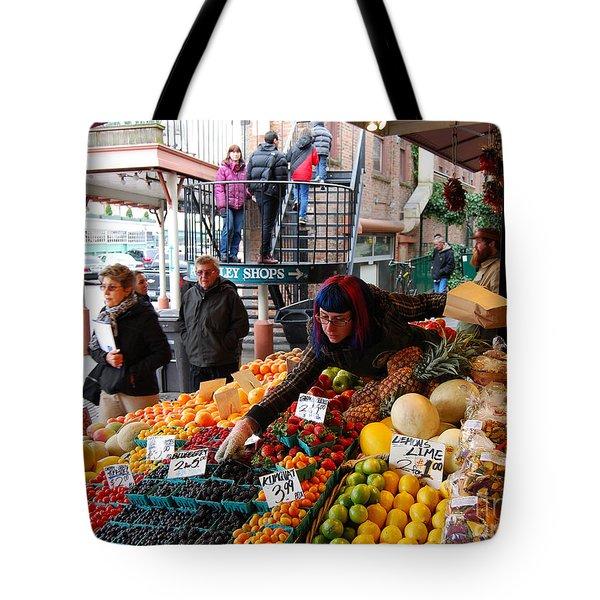 Fruit Market Vendor Tote Bag