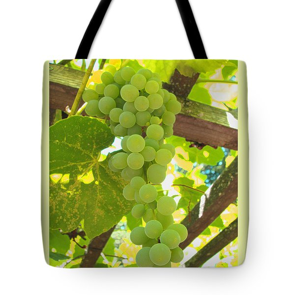 Tote Bag featuring the photograph Fruit Of The Vine - Garden Art For The Kitchen by Brooks Garten Hauschild