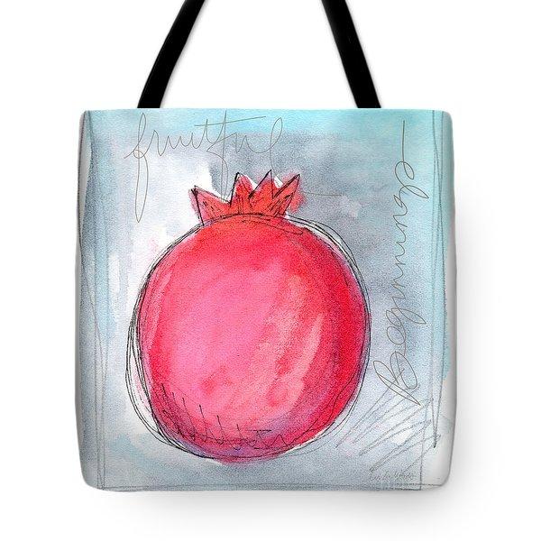 Fruitful Beginning Tote Bag by Linda Woods