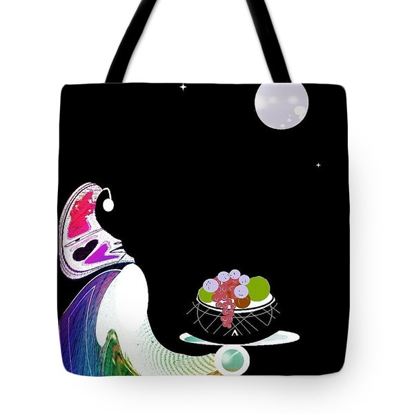 Tote Bag featuring the digital art Fruitful by Ann Calvo
