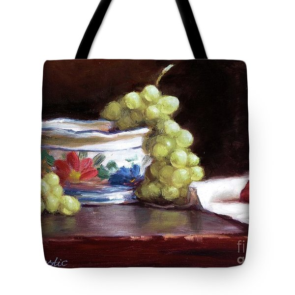 Fruits And Ceramic Bowl Tote Bag