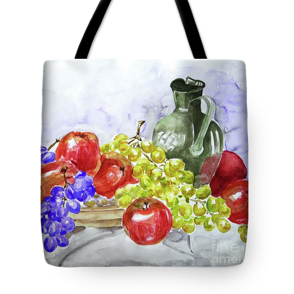 Tote Bag featuring the painting Fruit After Him by Jasna Dragun