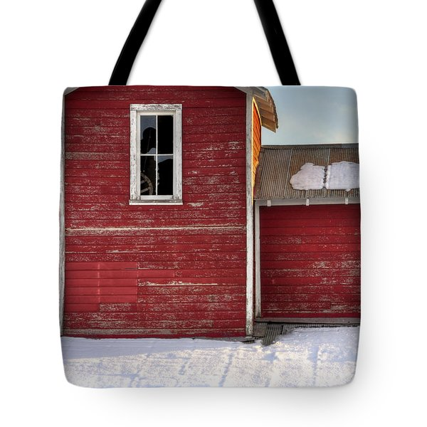 Ft Collins Barn 13496 Tote Bag by Jerry Sodorff