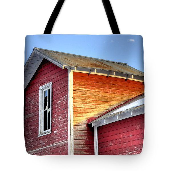 Ft Collins Barn 13502 Tote Bag by Jerry Sodorff