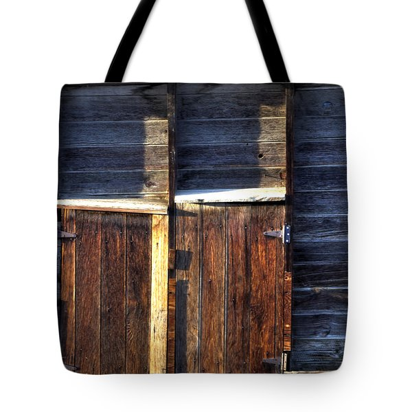 Ft Collins Barn Tin 13547 Tote Bag by Jerry Sodorff