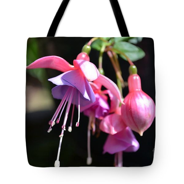 Tote Bag featuring the photograph Fuchsia Flower by Scott Lyons