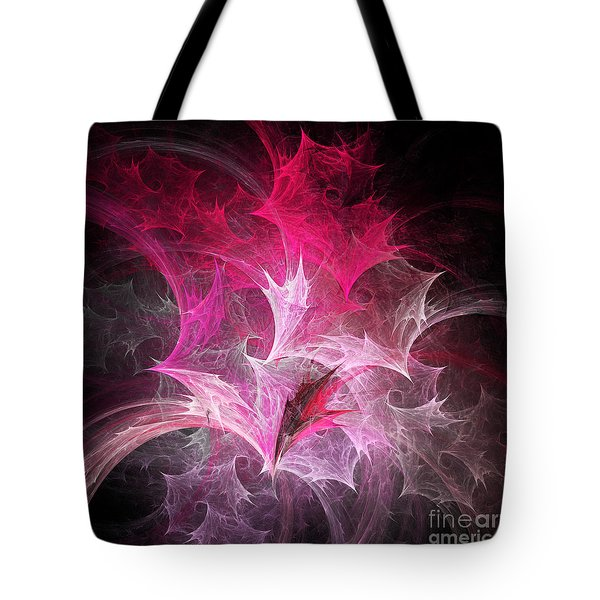 Fuchsia Fountain Abstract Tote Bag by Andee Design