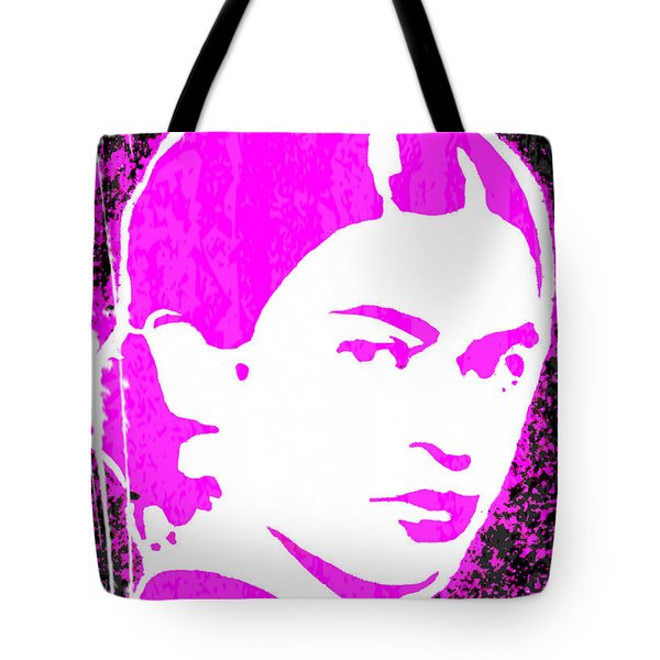Fuchsia Frida Tote Bag