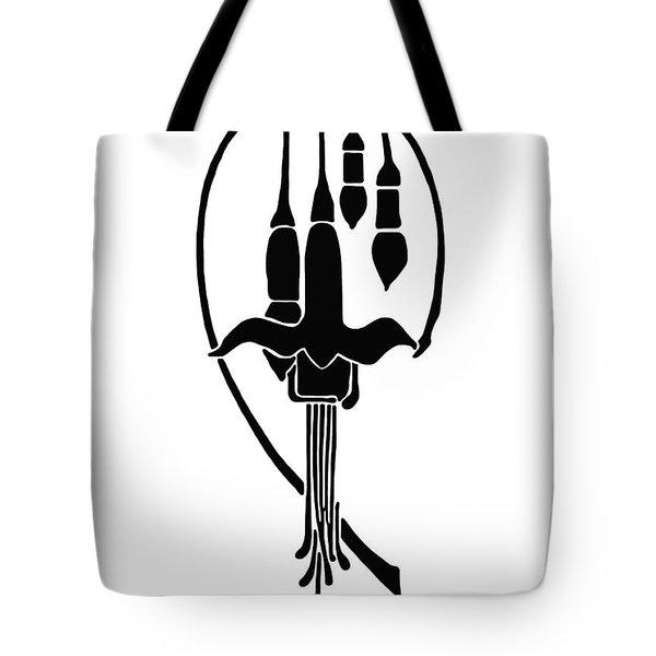 Tote Bag featuring the drawing Fuchsia Stencil Art by Karon Melillo DeVega