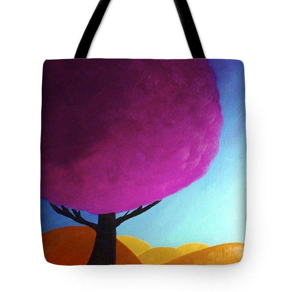 Fuchsia Tree Tote Bag by Anita Lewis