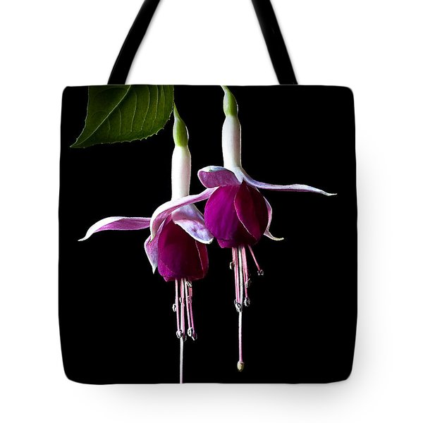 Tote Bag featuring the photograph Fuchsias by Endre Balogh
