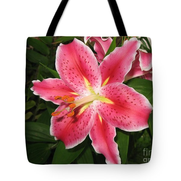 Tote Bag featuring the photograph Fukuoka Lily by Carol Sweetwood