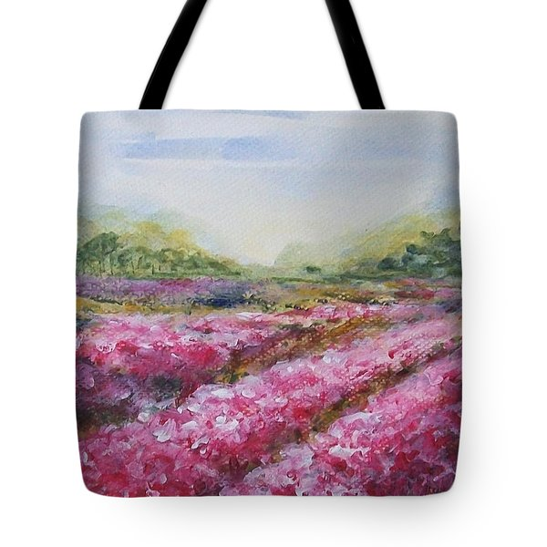 Tote Bag featuring the painting Full Bloom by Jane  See