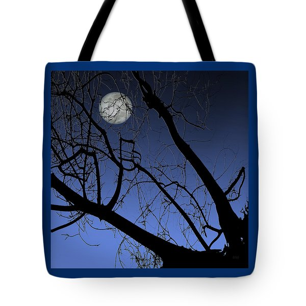 Full Moon And Black Winter Tree Tote Bag by Ben and Raisa Gertsberg