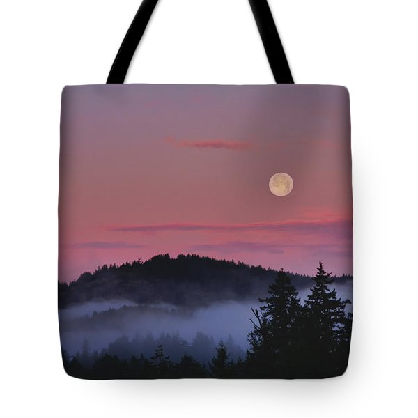 Full Moon At Dawn Tote Bag