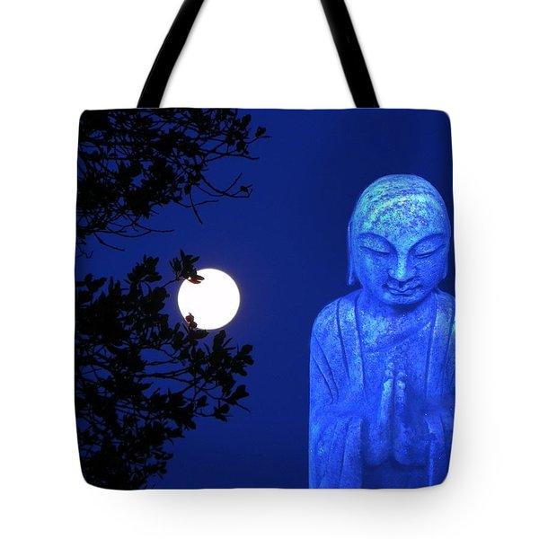 Full Moon Buddha Tote Bag