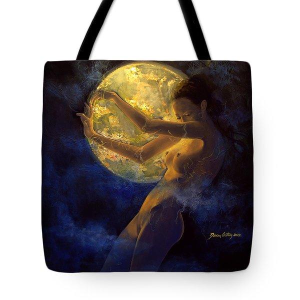 Full Moon Tote Bag by Dorina  Costras