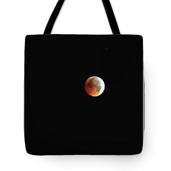 Tote Bag featuring the photograph Full Moon Lunar Eclipse by Kelly Nowak