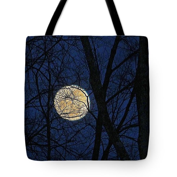 Full Moon March 15 2014 Tote Bag
