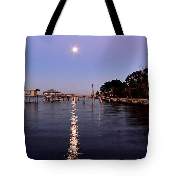Full Moon On The Bay Tote Bag