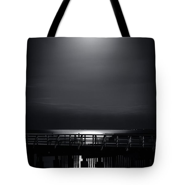 Full Moon Over Bramble Bay Tote Bag by Peta Thames