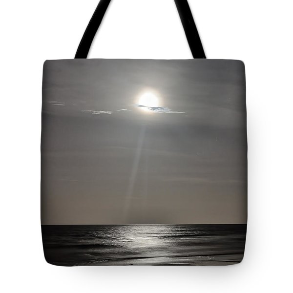 Full Moon Over Daytona Beach Tote Bag