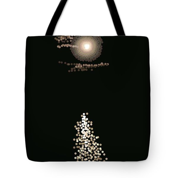 Full Moon Pointillism Tote Bag