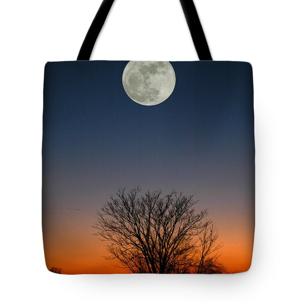 Tote Bag featuring the photograph Full Moon Rising by Raymond Salani III