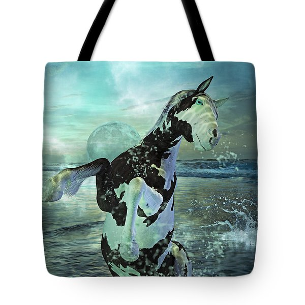 Full Moon Twist And Shout Tote Bag by Betsy Knapp