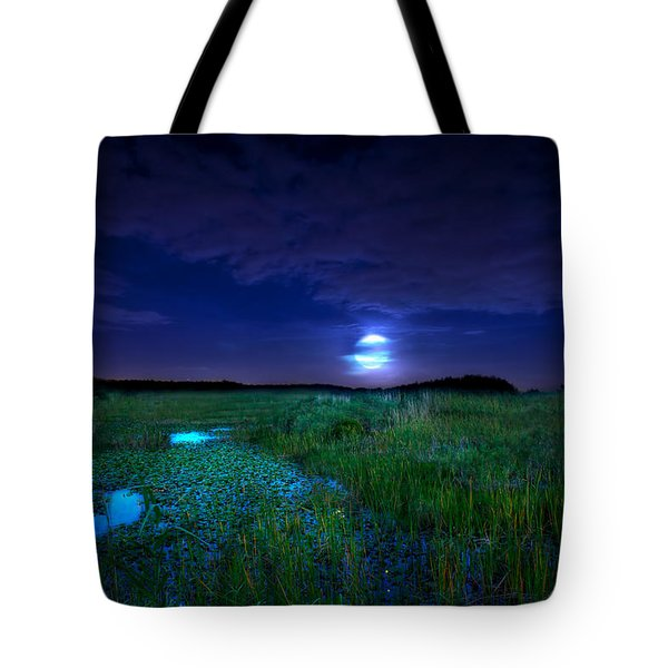 Full Moons And Fireflies Tote Bag