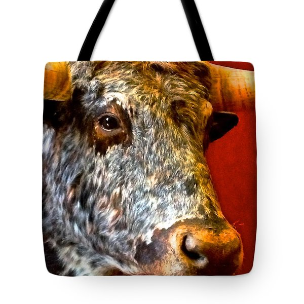 Tote Bag featuring the photograph Full Of Bull by Dee Dee  Whittle