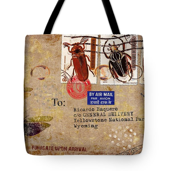 Fumigate Upon Arrival Tote Bag by Carol Leigh