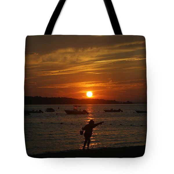Fun At Sunset Tote Bag