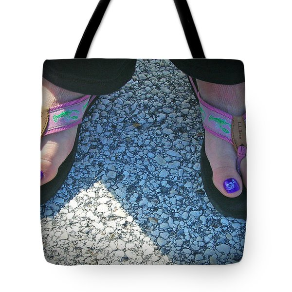 Tote Bag featuring the photograph Fun Feet by Emmy Marie Vickers