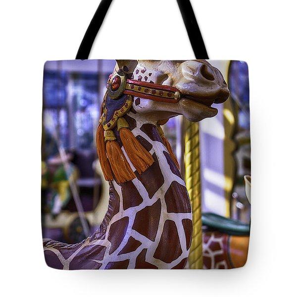 Fun Giraffe Carousel Ride Tote Bag