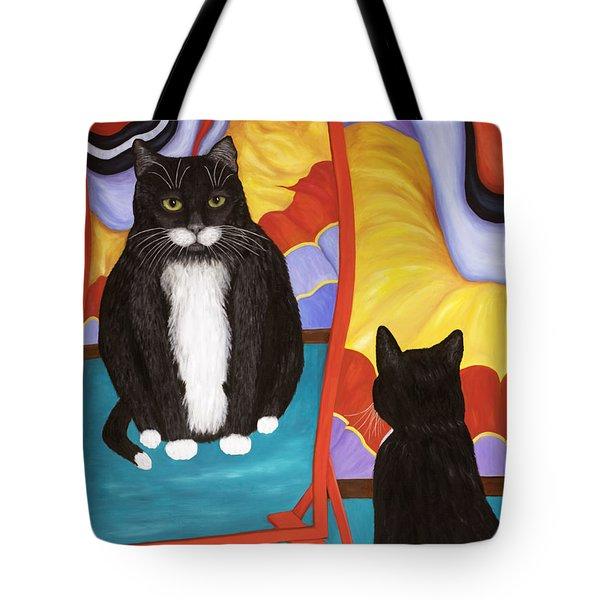 Fun House Fat Cat Tote Bag