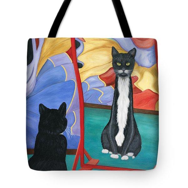 Fun House Skinny Cat Tote Bag
