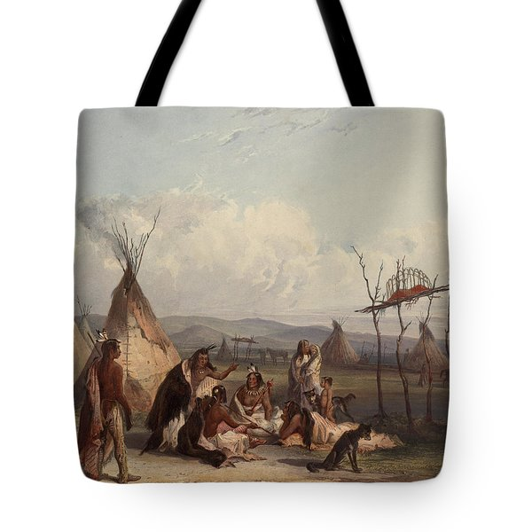 Funeral Scaffold Of A Sioux Chief Tote Bag