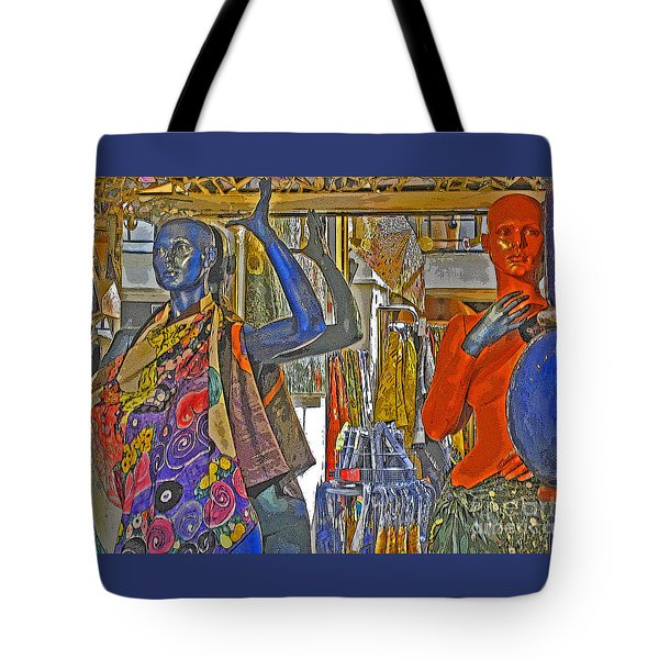 Tote Bag featuring the photograph Funky Boutique by Ann Horn