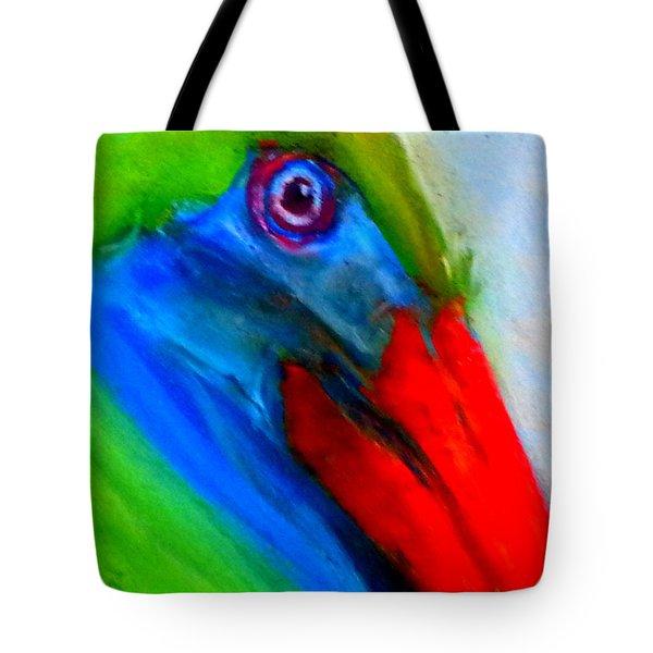 Funky Colorful Pelican Art Prints Tote Bag