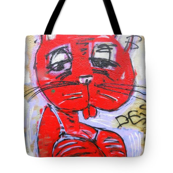 Funky Feline Tote Bag by Ramona Johnston