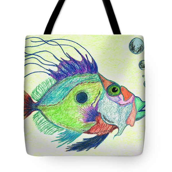 Funky Fish Art - By Sharon Cummings Tote Bag