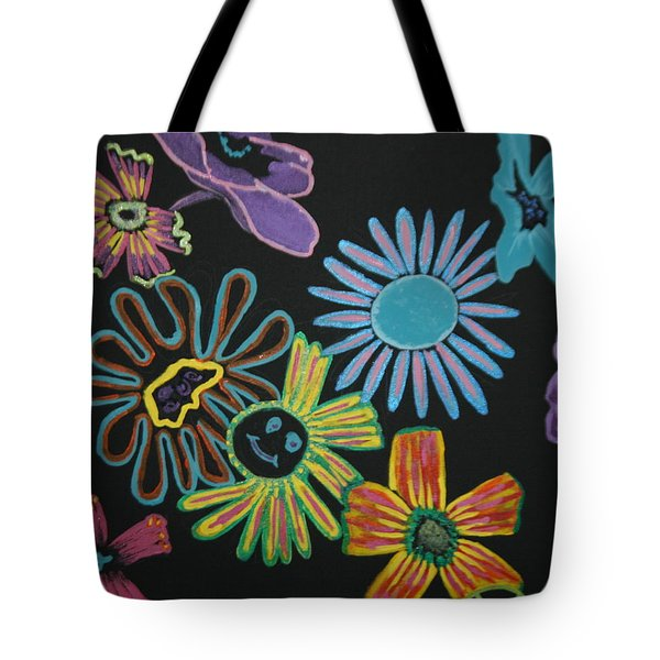 Funky Flowers Tote Bag by Betty-Anne McDonald